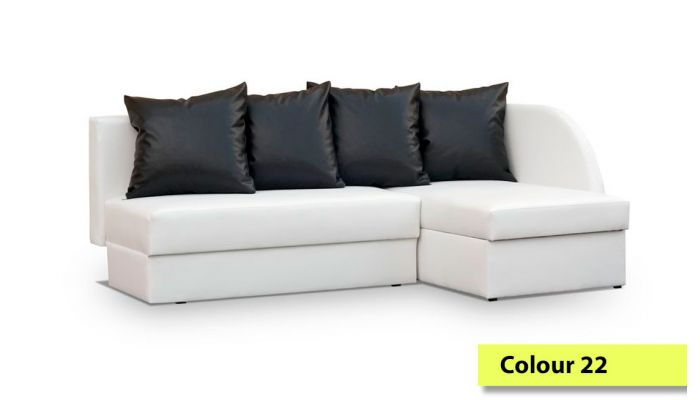 corner sofa bed. Corner Sofa Bed With Big Storage - 210cm Wide Many Colours Available. Ireland Delivery.