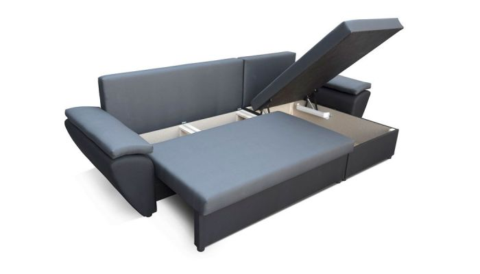 corner sofa bed. Dark Gray And Black NR 2 - Corner Sofa Bed Jacob