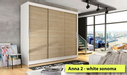 250cm Anna 2 Wardrobe No mirror