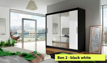 2 mirrors, Wardrobe Ben 2 - 180cm wide