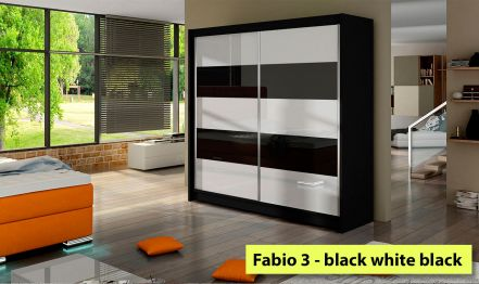 180cm Fabio 3, Wardrobe High gloss