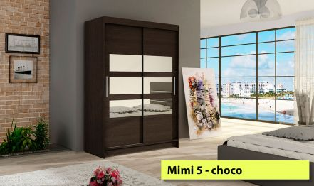 120cm Mimi 5, Wardrobe with 3 Mirors